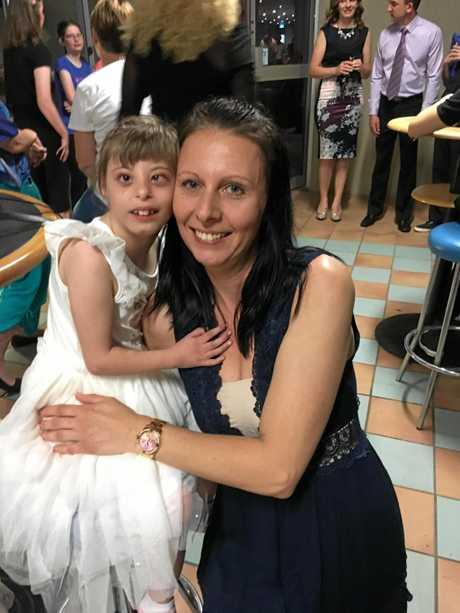 MUM'S GIRL: Chloe Scott with her mum Vanessa.
