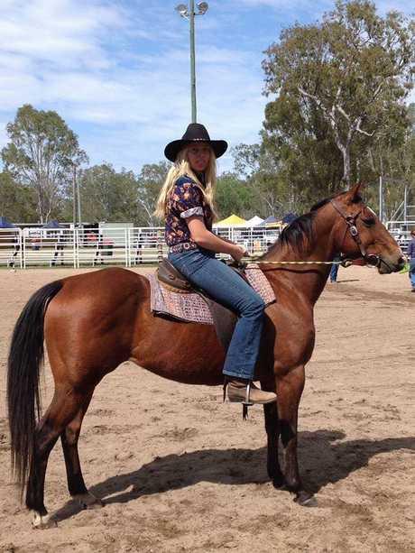 TREAT THEM WELL: Ellysha Dingle riding her favourite horse Jasper.