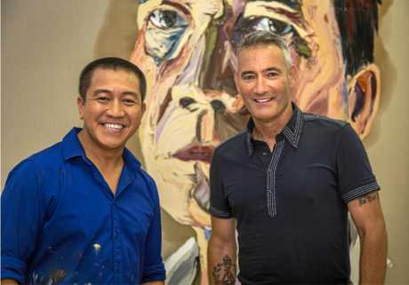 Anh Do paints The Wiggles star Anthony Field on Anh's Brush With Fame.
