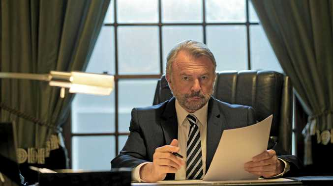 Sam Neill plays Tiny Rowland in Channel 9 miniseries House of Bond, the man who triggered Alan Bond's downfall.
