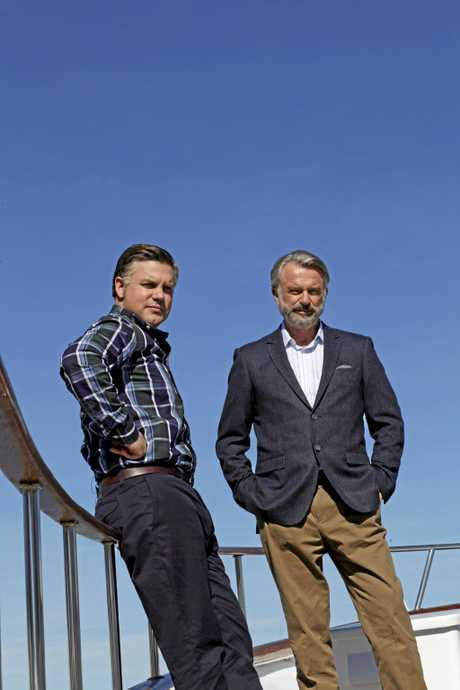 Ben Mingay as Alan Bond and Sam Neill as Tiny Rowland.