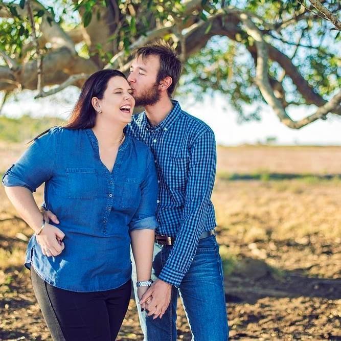 Shenee' Scholes and her husband-to-be, Josh Humphrey