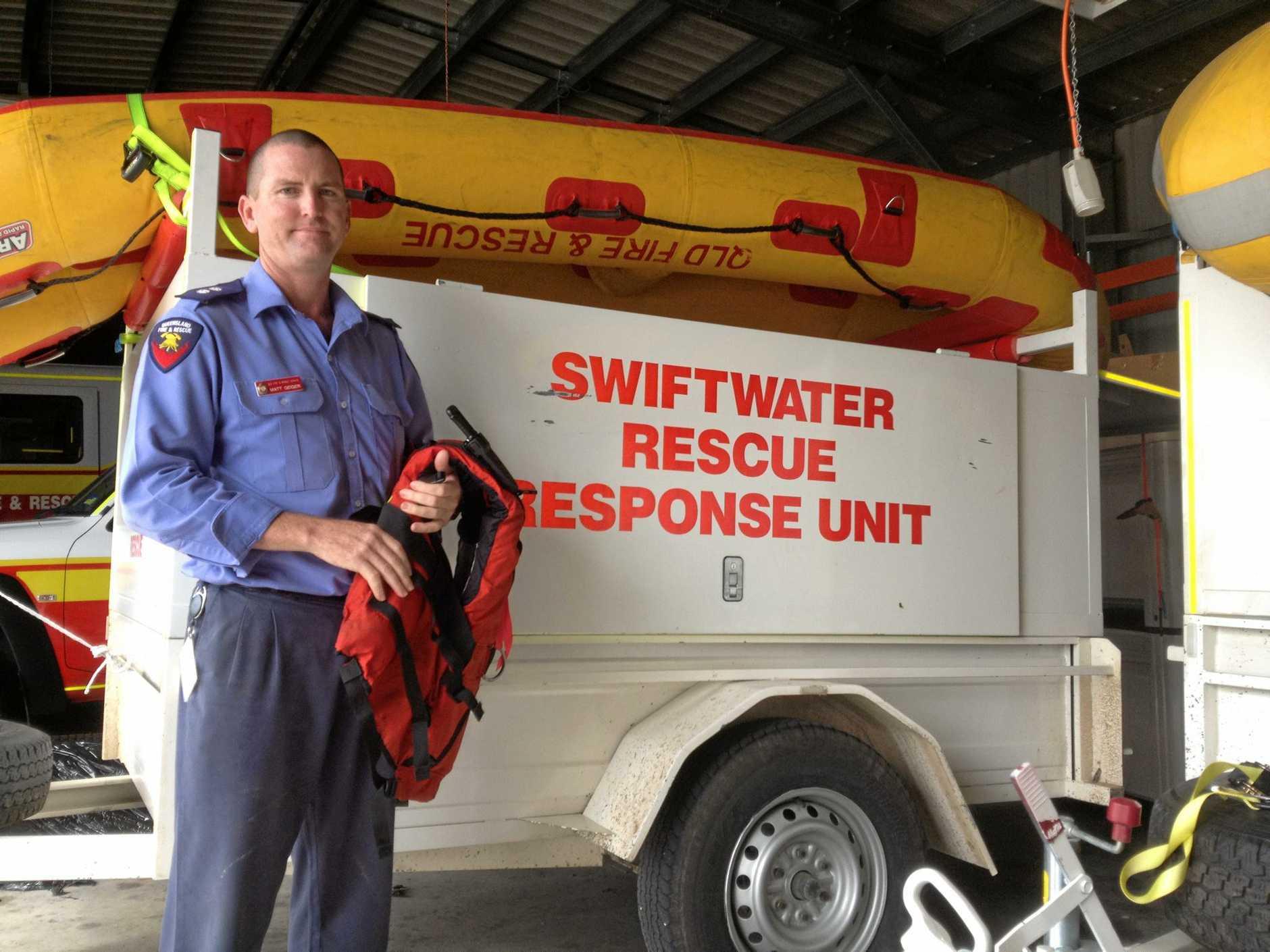 Area coordinator for technical rescue Matt Geiger