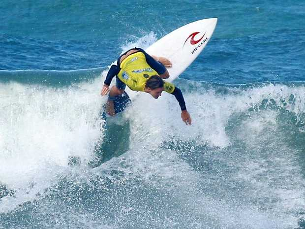 NICE MOVES: Alister Reginato during the Pro Junior event at Coolum Beach.