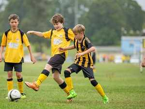 Junior soccer action captured