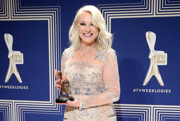 Kerri-Anne Kennerley poses with the Hall Of Fame Logie Award.