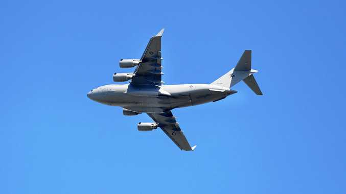 EYES UP: An Australian RAAF Boeing C-17 Globemaster III will fly over Laidley on Anzac Day.