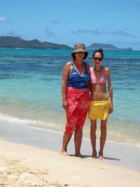 Millie Thomas and her mum in Hawaii, September 2013.