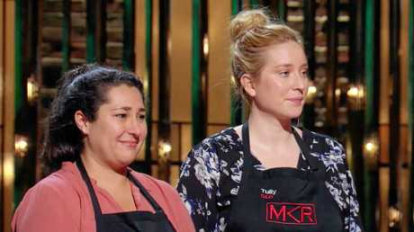 Della and Tully compete in the third quarter final of My Kitchen Rules that aired Sunday, April 23, 2017.