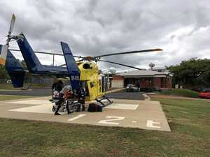 Man airlifted after quad bike fall