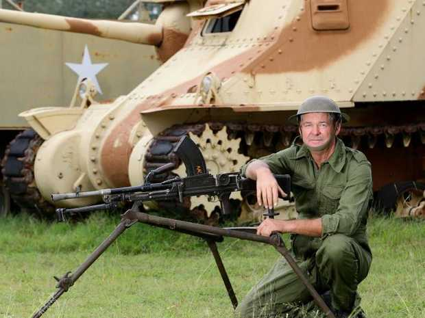 Russell Tattam, who collects military equipment, says Anzac Day re-enactments across the state are under threat.