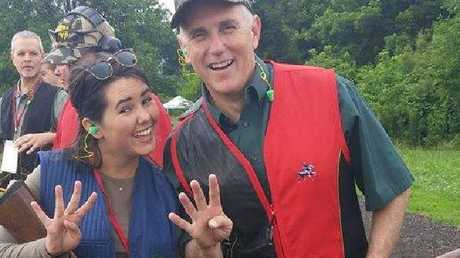 """Rebel daughter Audrey Pence is a """"pretty good shot"""", her father says."""
