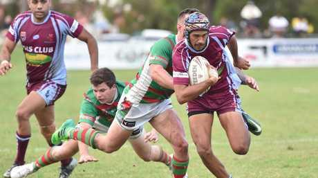 Rugby league - Hervey Bay Seagulls V. Isis Devils. Isis fullback Jayden Alberts.