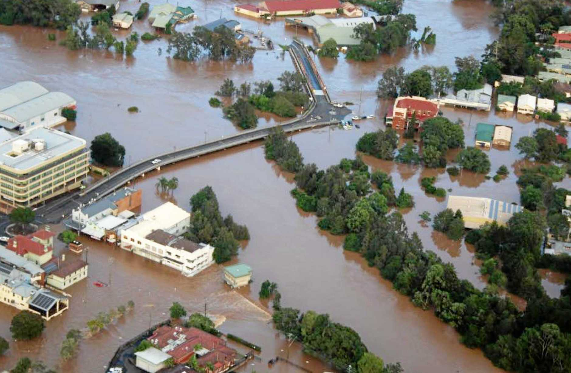 After Cyclone Debbie, regions including Mackay in Central Queensland and Lismore in northern New South Wales (pictured) will be worst affected by these latest storms.