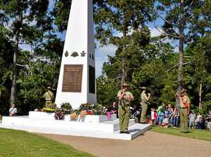 Paying respects to Anzacs in Nambour
