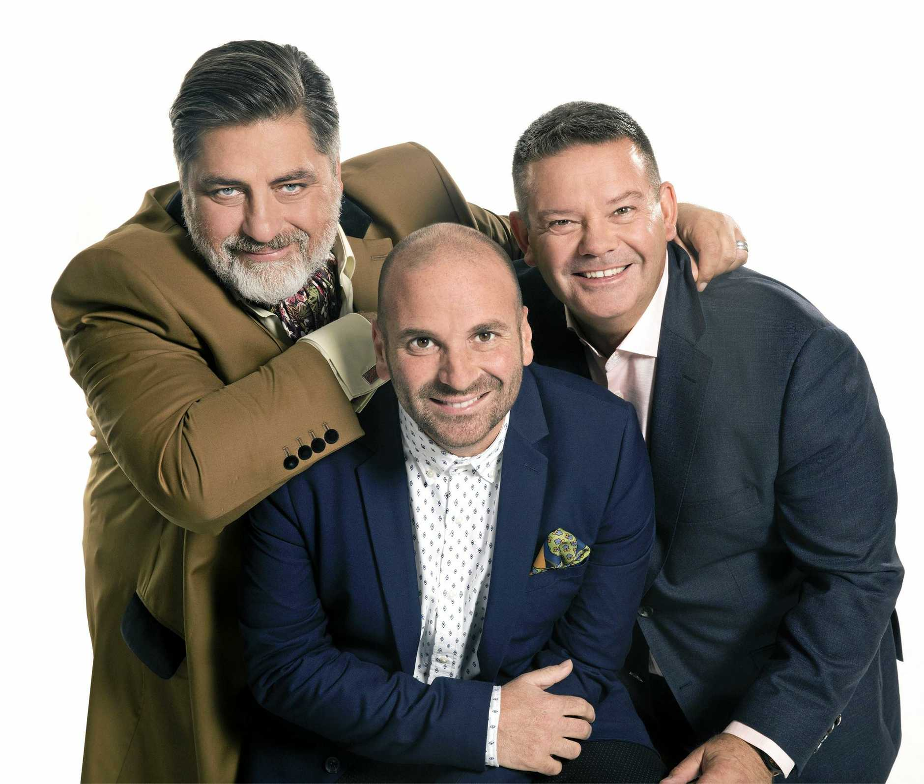 *WARNING EMBARGOED for the April 27 edition of The Guide* MasterChef Australia judges Matt Preston, George Calombaris and Gary Mehigan return for a ninth season. Supplied by Channel 10.
