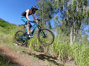 RIDING HIGH: Anthony Oakeshott raced to victory in the elite class in the opening round of the enduro gravity series held on the trails at First Turkey on Sunday.