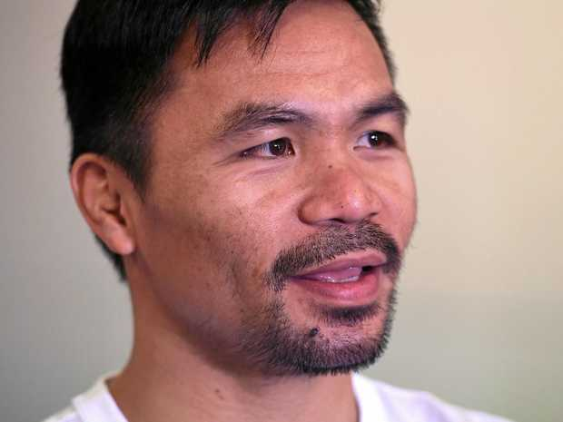 I'M NOT DONE: Manny Pacquiao says he still has a great love of boxing.
