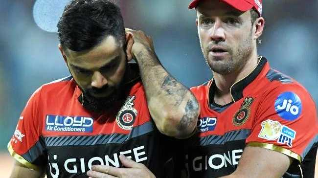 Cricket superstars Virat Kohli and AB de Villiers. Source:AFP
