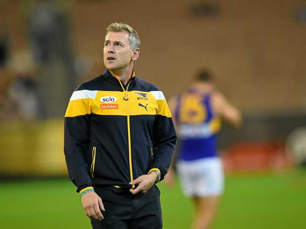 LOOKING FOR ANSWERS: West Coast coach Adam Simpson has been slammed for his team's away record.