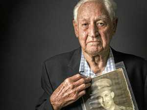 WWII vet stands tall on Anzac Day