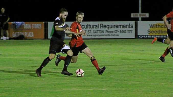 The Gatton Redbacks premier men defeated West Wanderers 2-0 at home on Saturday, April 22, 2017.
