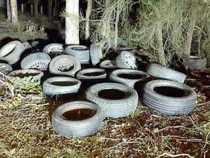 Warwick's illegal tyre dump