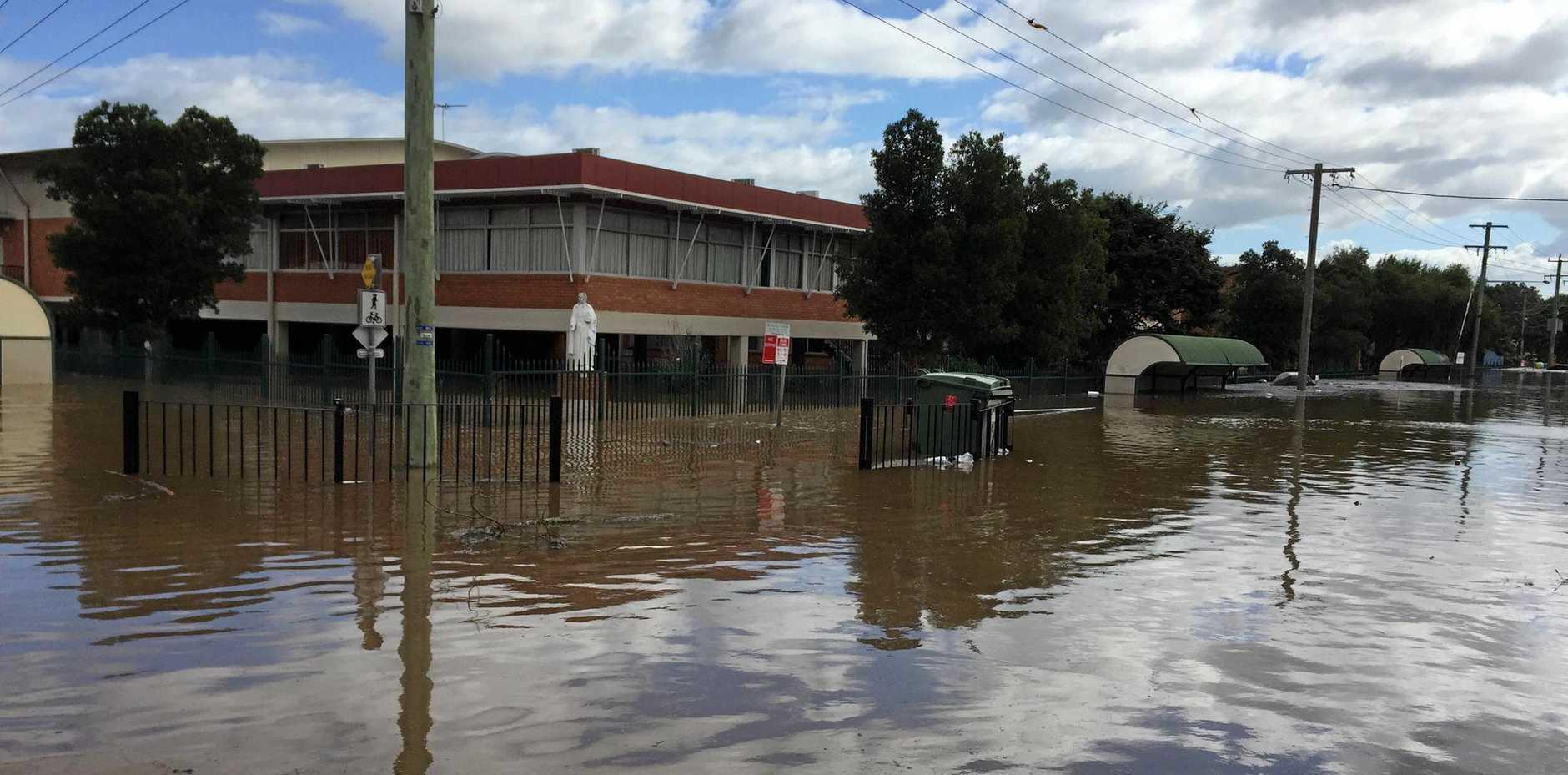 Floods devastate Trinity Catholic College, Lismore.