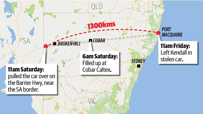 Outback odyssey....Police want to know how the boy drove 1300km unchecked.