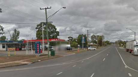 The Caltex service station at Cobar where the boy drove off without paying.
