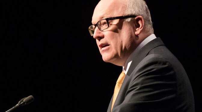 FUNDING CHANGE: Australia's Attorney-General, George Brandis QC