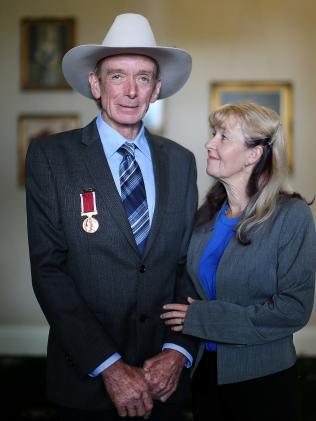 Truck driver Timothy John Bunyan with his wife Brenda.