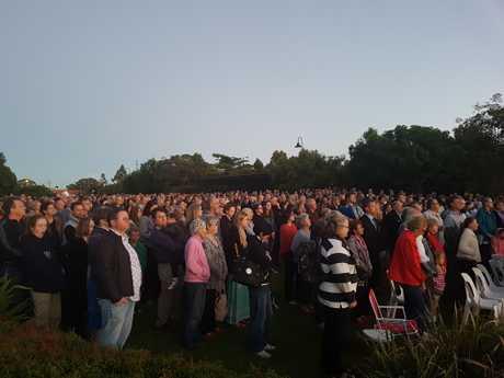 The dawn service at Buderim Village Park.