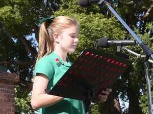 Grafton Anzac Day Service: Westlawn Public: Zoe Busch
