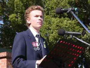 Grafton Anzac Day Service: Grafton High School: Josh Crispin