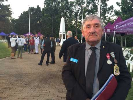 The Anzac Day 2017 dawn service at Nambour.