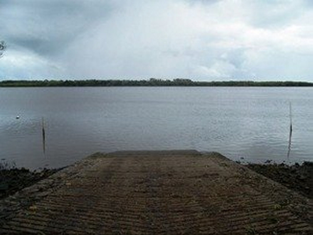 The boat ramp at Winfield where the pair is believed to have launched their tinny.
