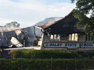 FIERCE FIRE: Blaze destroys half of historic Qld school