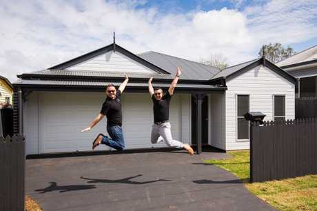 RENO RADICALS: Baden and Nelson Marino-Hall have turned three Toowoomba homes around for profit, saying the Garden City was a haven for renovators like themselves.