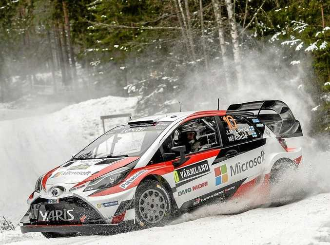 REVVED UP: Toyota driver Jari-Matti Latvala won the WRC round in Sweden but he and his team face a challenge on the gravel roads of Argentina this weekend.