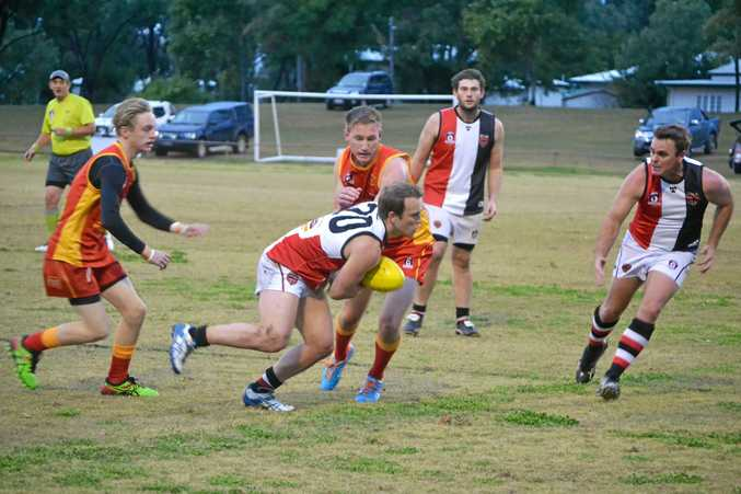 ONES TO WATCH: Chinchilla Suns playing South Burnett during the 2016 season.