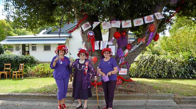 WINNERS: The Allora Red Hatters' co-winning tree.
