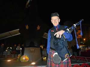 Anzac Day bagpiper thrives under the pressure of ceremony