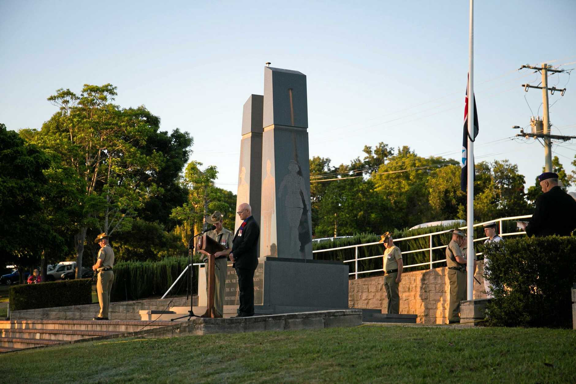 Gympie's Anzac Day Dawn Services, at Memorial Lane and Normanby Point.