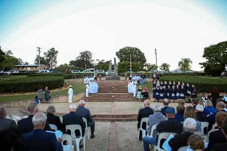 Gympie's 2017 Anzac Day services in Memorial Lane and at the Normanby Hill Remembrance Park.