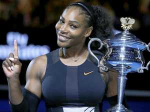 Serena Williams after defeating her sister Venus in the 2017 women's singles final at the Australian Open.