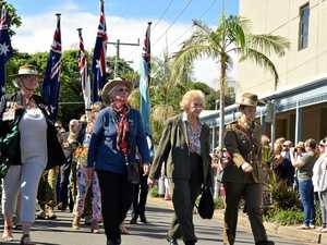 Servicewomen respected at Sawtell Anzac Day march