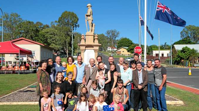 ANZAC DAY: Five generations of the Helmore family honouring patriarch and Second World War veteran Herb Helmore.