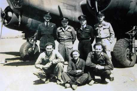 ANZAC DAY: Herb Helmore (bottom right) with his squad.