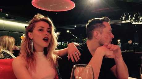 Amber Heard celebrates her birthday with Elon Musk at Moo Moo Bar and Grill.